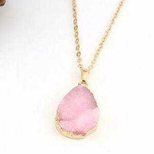 Jewelry - {Blush Lia} Crystal Stone Necklace